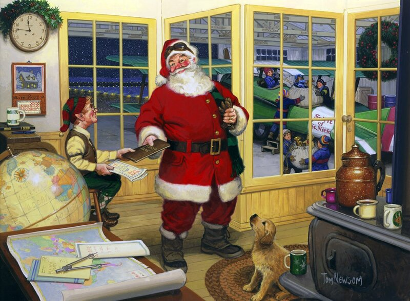 Дедушка Санта Клаус