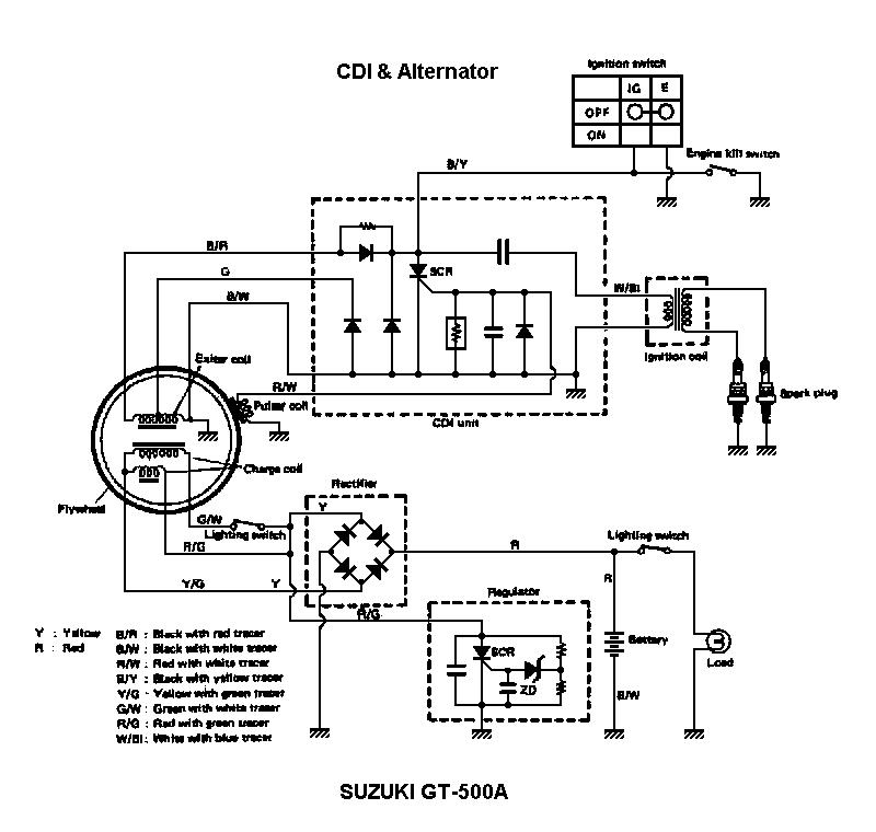 Suzuki cdi unit схема