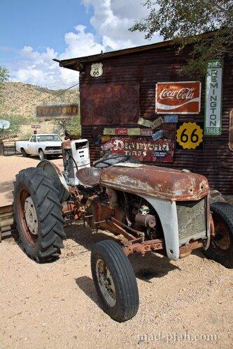 трактор, ретроавтомобили, сша, дорога 66, route 66