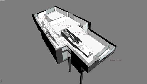 Благовещенка Пятницкое 12 -30 009 Дом с колоннами особняк, благоустроенный дом коттедж Вид сверху разрез