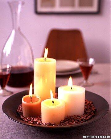 Свечи и кофе