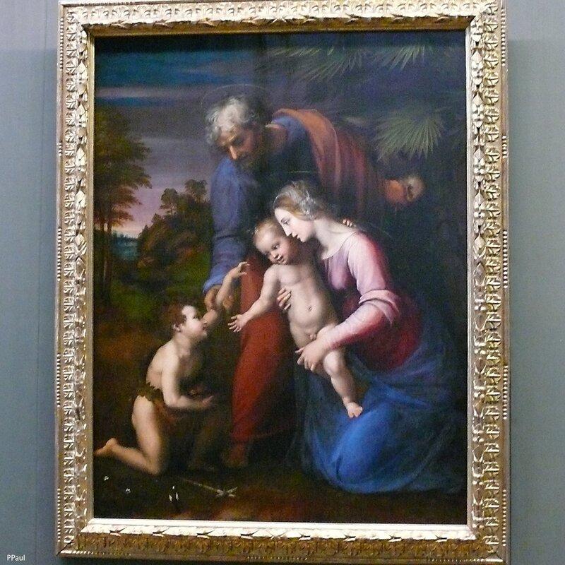 """Рафаэль. """"Святое семейство и св.Иоанн"""" 1513-13гг"""