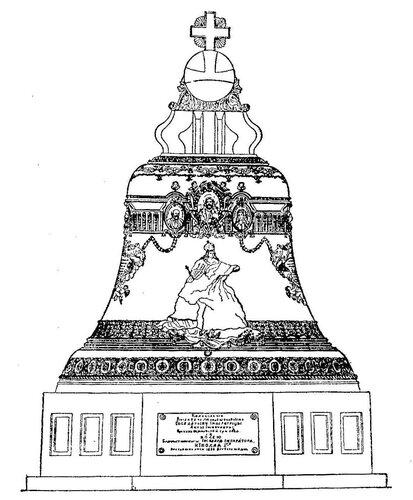 Рисунок 130. Царь-колокол на постаменте.
