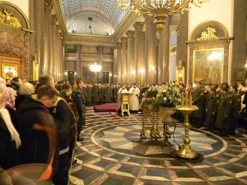 Молебен 7 января 2011г. СПб
