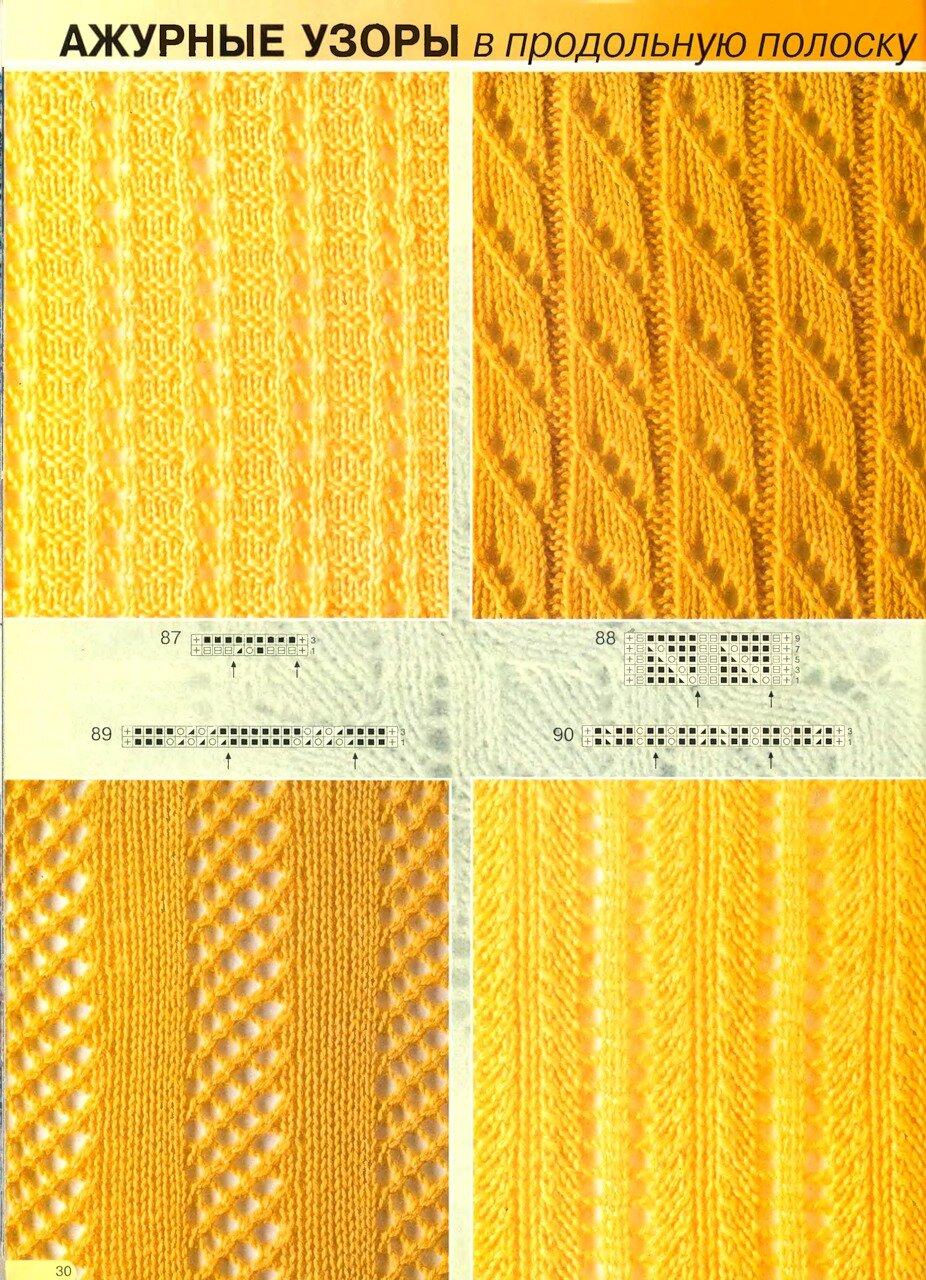 Рисунки для вязания спицами в полоску