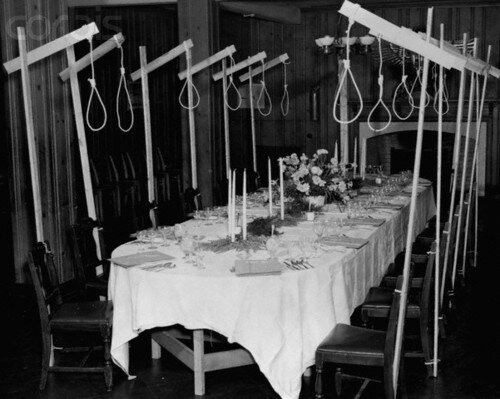 Nooses Over the Dining Table