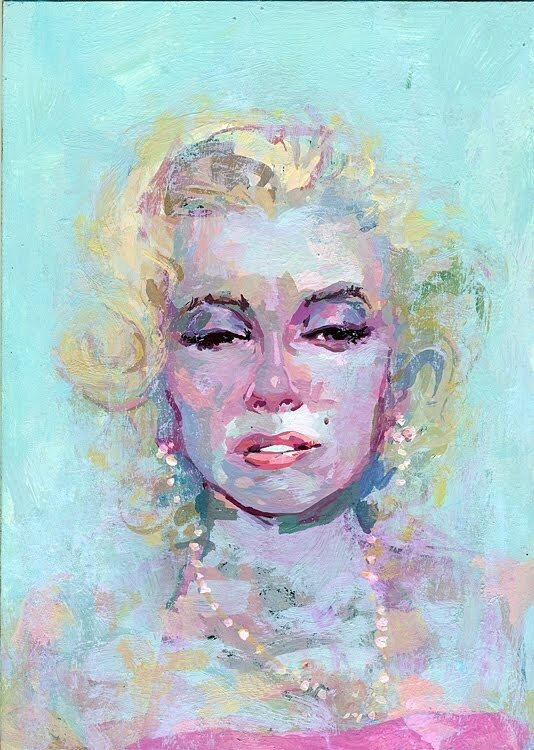иллюстратор Rich Pellegrino.Marilyn Monroe