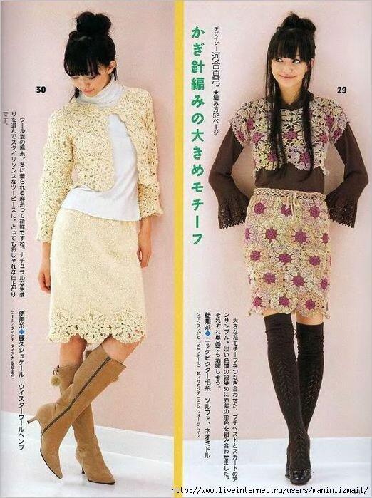Вязание расклешенной юбки