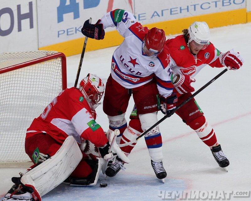 «Спартак» vs ЦСКА 3:2 чемпионат КХЛ 2013-2014 (Фото)
