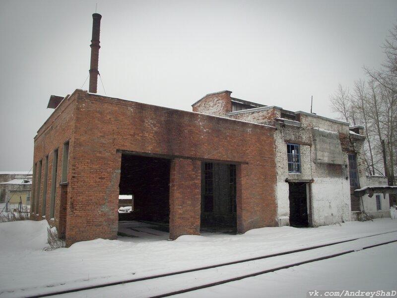 заброшенное депо в поселке Кузино