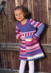 Полоски, рюши и ажур - дочке платье от кутюр