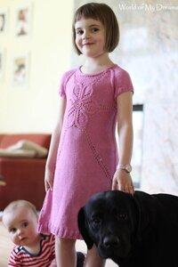 Платье-цветок спицами