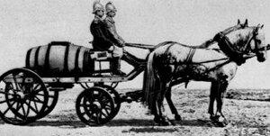 Пожарная телега. Конец XIX века