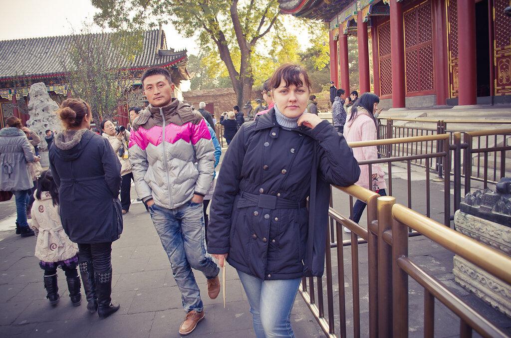 Фотография. Отдых в Китае. Достопримечательности Пекина. Летний императорский дворец. Только вот снять фото без людей на заднем плане практически невозможно