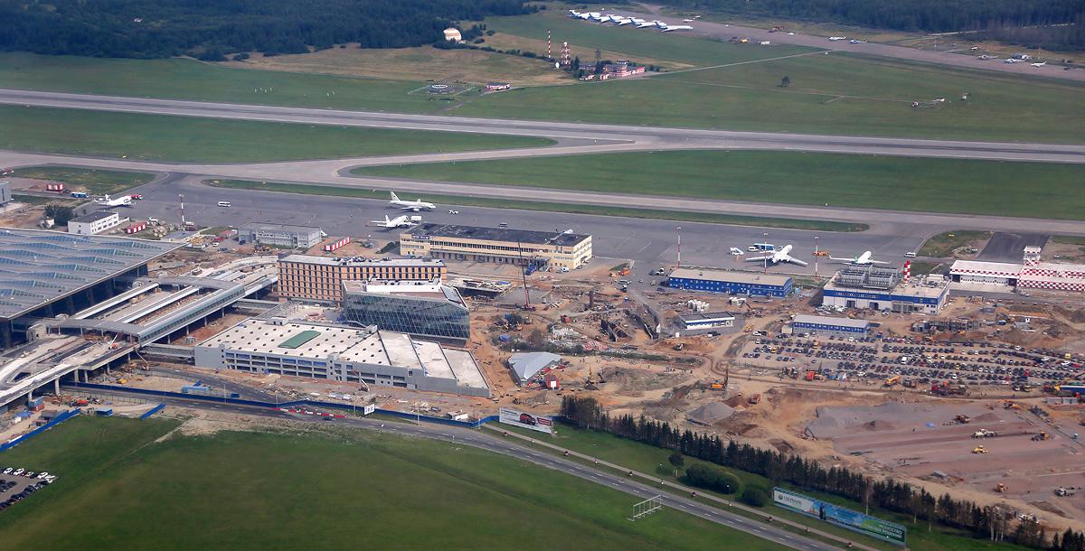 Аэропорт Пулково сверху