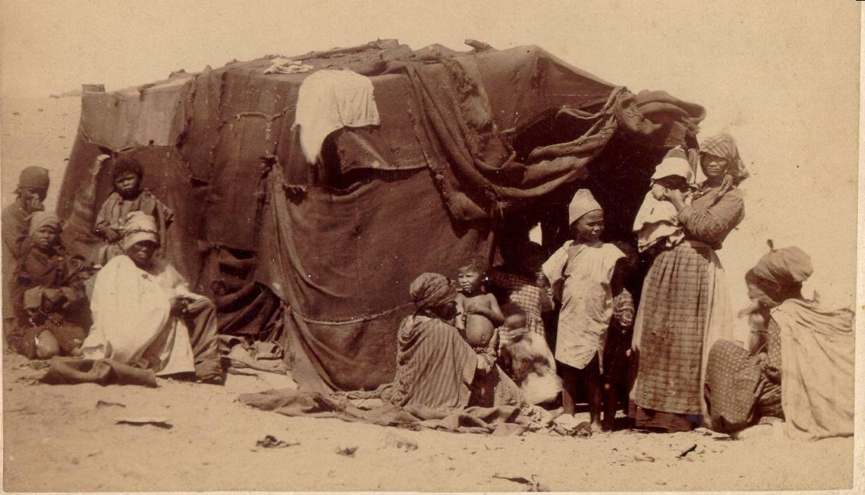 В Северной Капской провинции в районе Приеска.  Южная Африка, конец XIX века