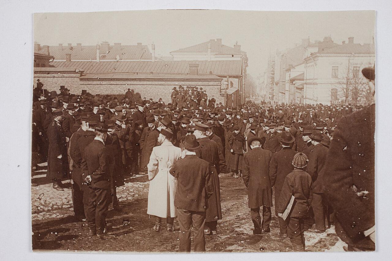 Забастовка по поводу введения воинской повинности, 1902