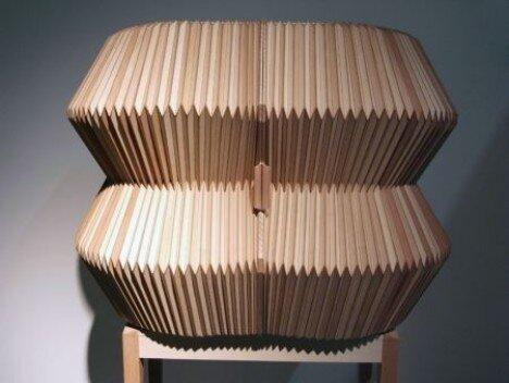 风琴一样的书架