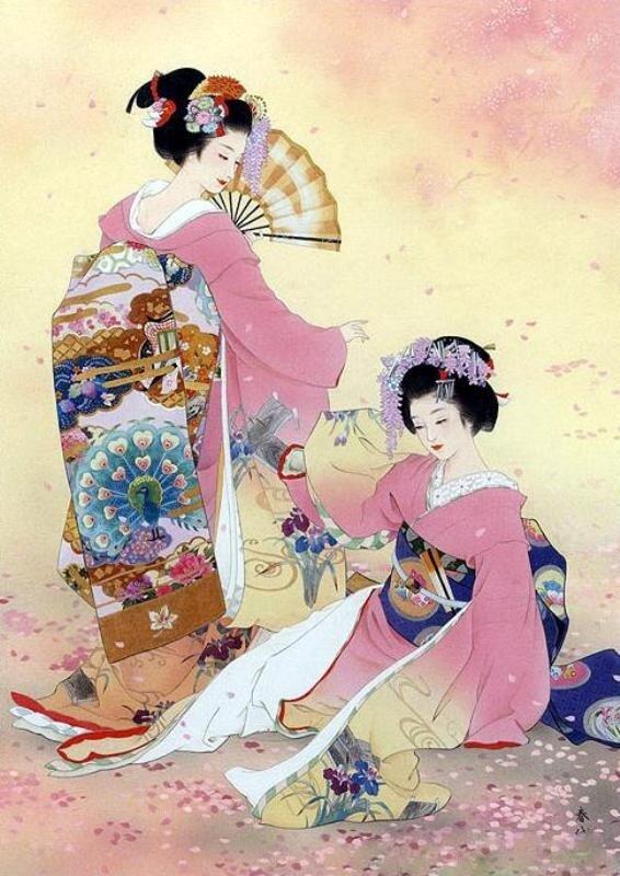 японская живопись картинки: