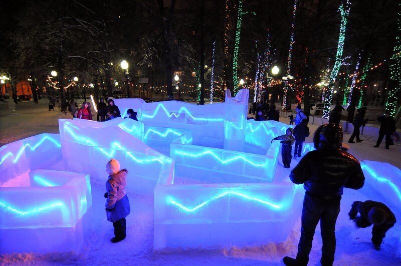 Открытие городского ледового катка «Горки-город»