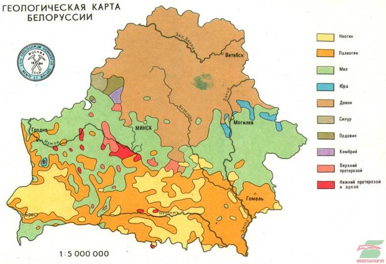 Геологическая карта 1 : 5 000