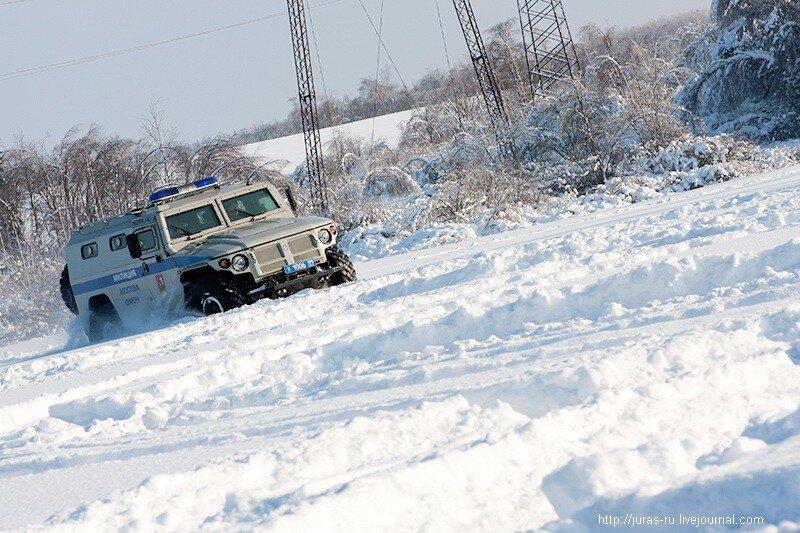 100-километровый автопробег бронетехники на марше-броске ОМОН ГУВД по г. Москве, Juras
