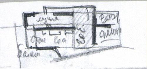 Благовещенка Пятницкое 12 -30 004 витраж гостиная дача дизайн интерьера дизайн проект дома камин компоновка помещения коттедж на восемь человек новые идеи по дизайну и ремонту открытые пространства свободной планировки план проект дома проект жилого дома