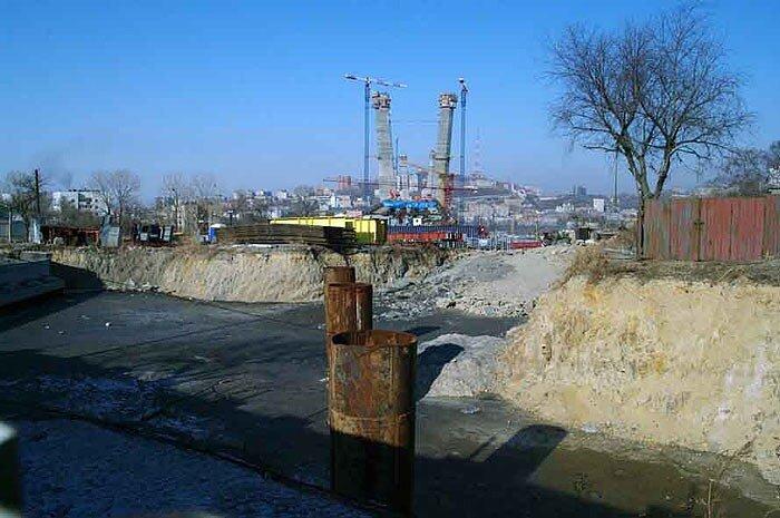 Владивосток - мост через Золотой рог.