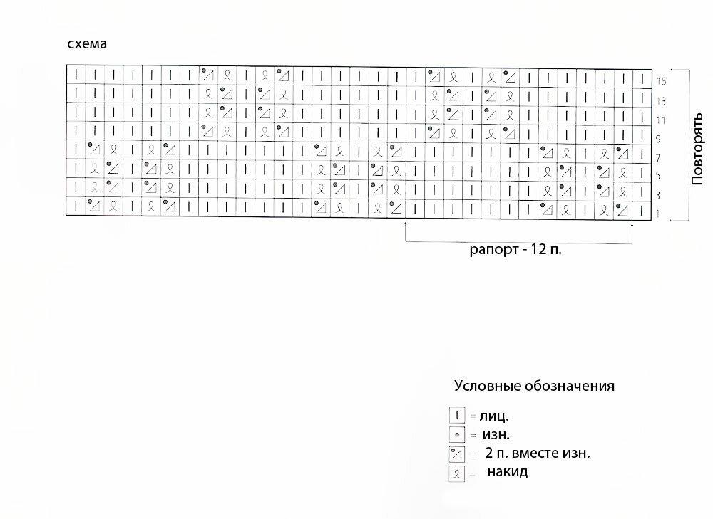 Оренбургский пуховый плaток схемы вязaния.
