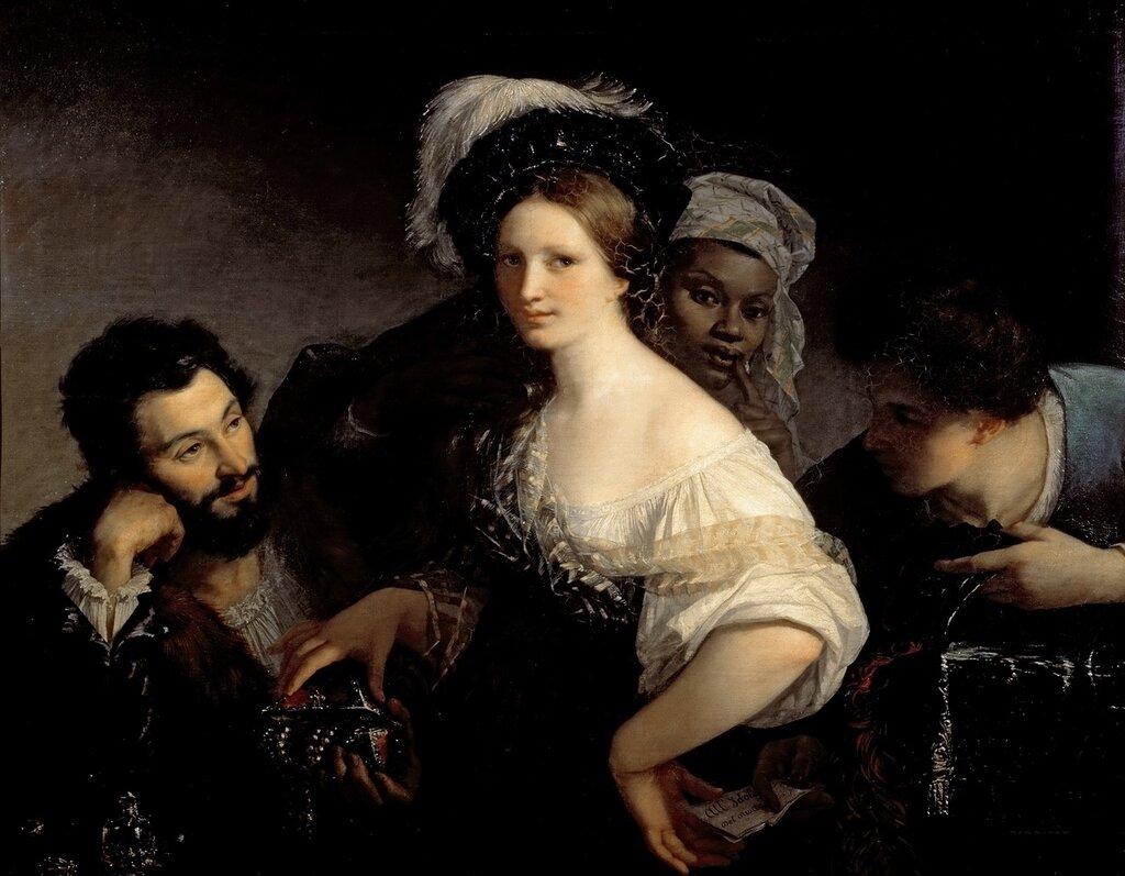 Сигалон, Александр-Франсуа-Ксавье (1787-1837) -- Куртизанка