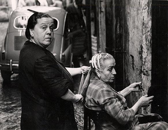 Hair Salon on the Street, Naples, 1961
