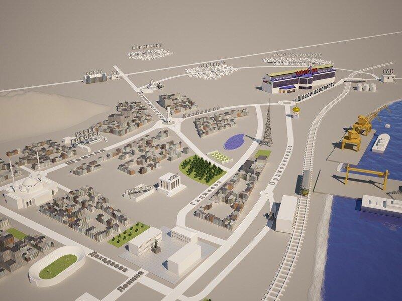 схема проезда в 3D город