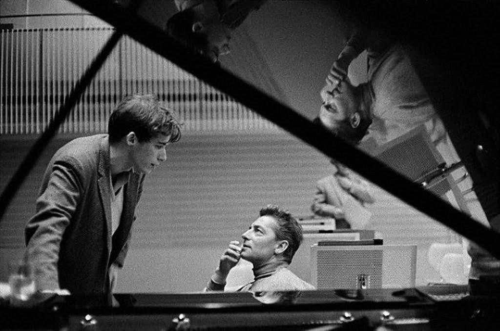 Glenn Gould and Herbert von Karajan