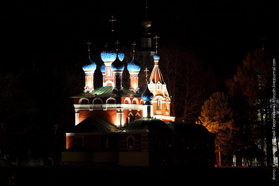 ночная фотография церковь царевича Дмитрия на Крови