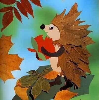 Поделки из листьев или природного материала 29