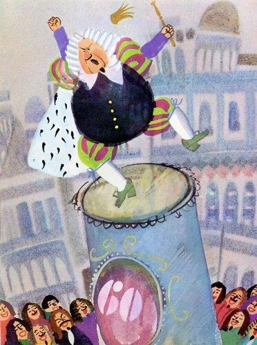 иллюстрации к сказке волшебный барабанщик потолков это