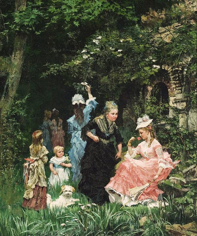 Художник Alexander Mark Rossi (British, 1840-1916)
