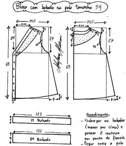 Выкройку блузка размер 56
