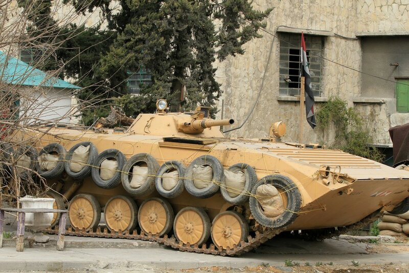 A  Syrian amry armored personel carrirer