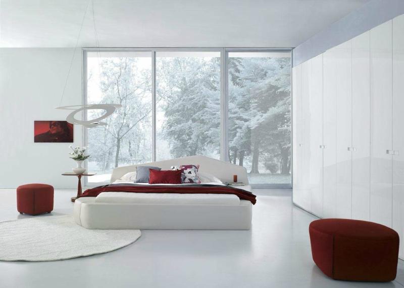 Белый цвет в интерьере спальни фото (6)