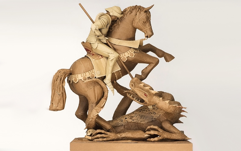 Скульптуры из картона Криса Гилмора