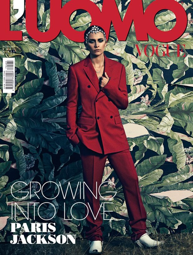 The stunning  Paris Jackson  takes the cover story of  L'Uomo Vogue  &