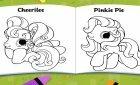 Раскраска маленьких пони и картинки с поняшами