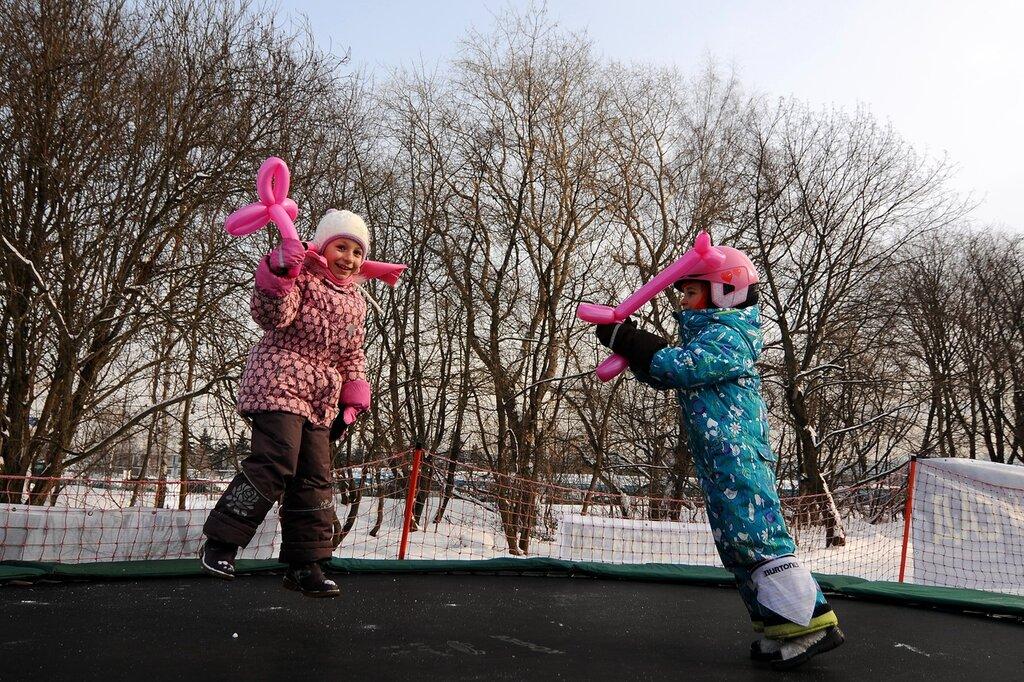 Открытие сноуборд-парка для детей