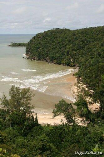 Пляж в национальном парке Бако