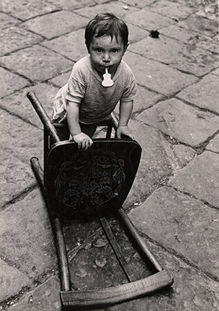 Little Boy with a Chair, Naples, 1960