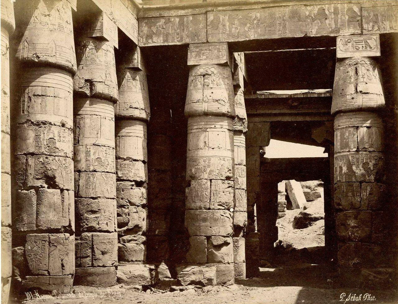 Карнак. Колоннада храма Хонсу