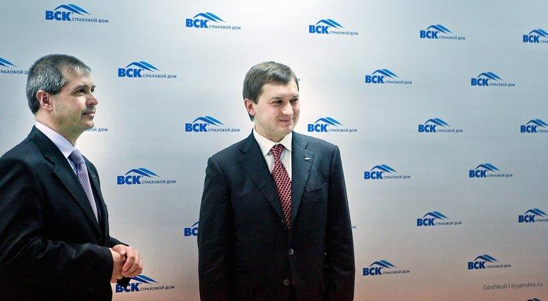 генеральный директор СОАО «ВСК» Олег Овсяницкий, директор нового филиала Олег Воляник