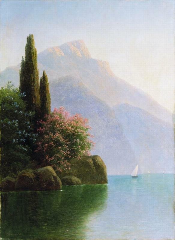 Гавриил Павлович Кондратенко (1854-1924). Крымский пейзаж. 1890-e