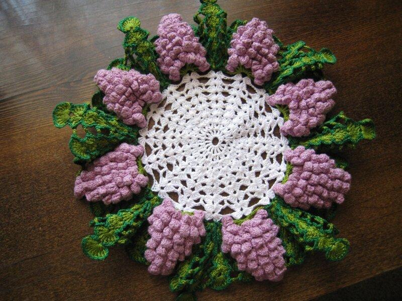 Схема вязания крючком виноград.